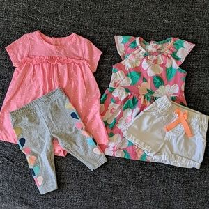 Carter's dress sets with leggings and shorts